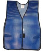 Safety Vest Plain PVC Coated  Dark Blue