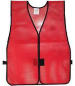 Safety Vest Plain PVC Coated Dark Red