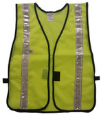 Safety Vests Soft Mesh Lime with  (1 3/8 Inch Silver Stripes)