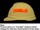 ERB # 19572 Safety Helmet 4 Inch Reflective Stripes - Orange