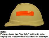 ERB # 19572 Safety Helmet 4 Inch Reflective Stripes - Orange