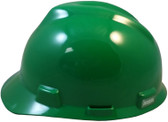 MSA # 10057445 V-Gard Cap Style Safety Helmets with One Touch Liners Green