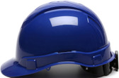 Pyramex #HP44160 Ridgeline Cap Style Safety Helmets with RATCHET Liners - Blue - Oblique View