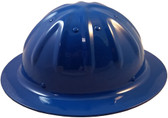 Aluminum Skull Bucket Full Brim Safety Helmets with Ratchet Liners –Blue