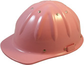 Aluminum Skull Bucket Cap Style Safety Helmets with Ratchet Liners – Pink
