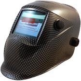 Auto Darkening Hydro Dipped Welding Helmet -  Carbon Fiber Design - HDWH-702