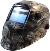 Auto Darkening Hydro Dipped Welding Helmet -  Hades White Design - HDWH-700