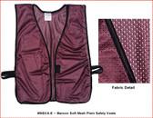 Safety Vest Plain Soft Mesh - Maroon