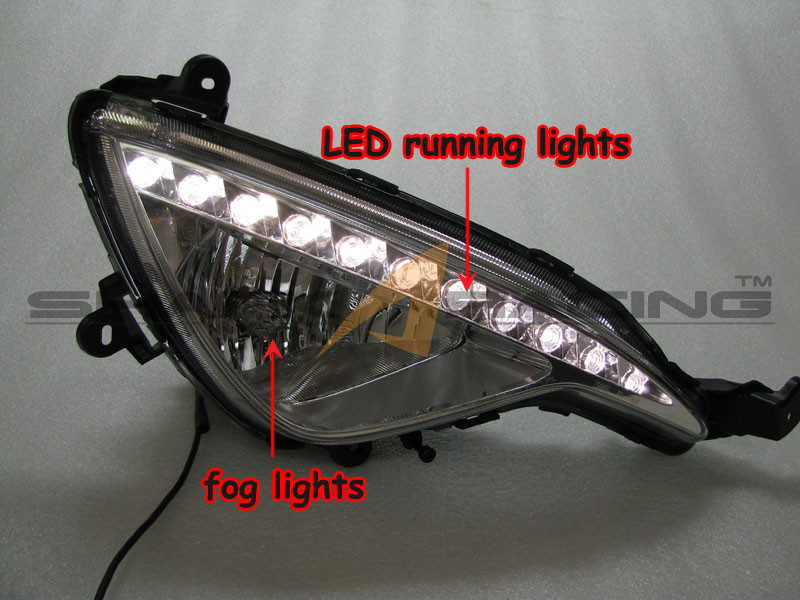 2013 2016 Genesis Coupe Factory Fog Light Kit With Led Drl
