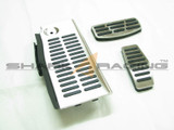 03-08 Tiburon Factory Stainless Steel Pedal Set