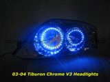 03-04 Tiburon Chrome Angel Eye Headlights