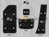 2014+ Forte-K3 Aluminum Pedal Set - Black Edition