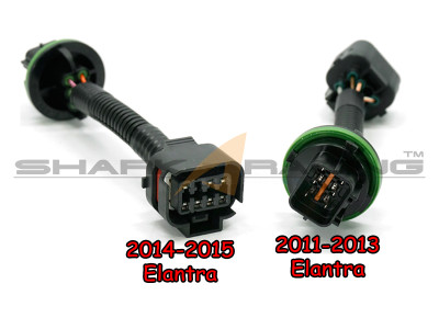 elantra headlight wiring harness adapter set shark racing 2011 2016 elantra headlight wiring harness adapter set