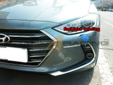 2017+ Elantra Chrome Foglight/Reflector Molding Kit
