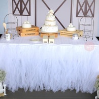 Style your dessert table with 100% handmade Tutu Tulle Table Skirt