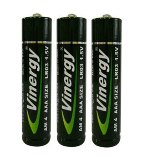 3 AAA disposable batteries vinergy