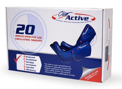 New Cleo Active Leg Massager Machine Size S-M Velcro Fasten