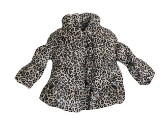 Girls leopard printed Padded Coat - £4.00