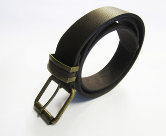 Men's Brown Leather Belt - £1.50