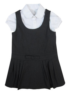Girls Pinafore Dress with Blouse  - £2.00