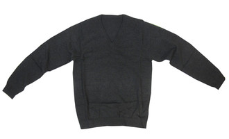 Ex M-S School Unisex Charcoal V-Neck Jumper - £1.75