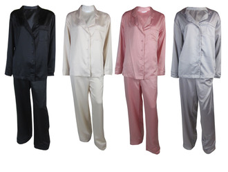 Ex M-S Ladies Satin Pyjama Sets - £5.75