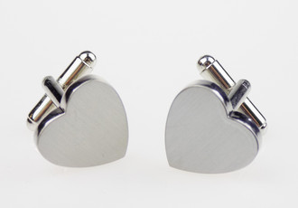 Heart Shaped Pair of Cuff Links  - £1.50