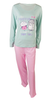 Ex major High Street Ladies Long Sleeve Pyjama Set  - £4.95