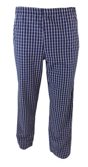 Ex Major High Street Mens Navy Check  PJ Bottoms  - £2.00