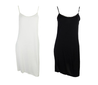 Ex M-S Cooling Full Slip  with Lace - £2.50