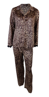 Ex M-S Ladies Animal Print Satin Pyjama Set - £5.75