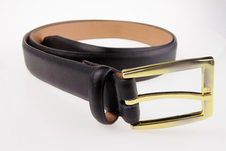 Men's Black Leather Belts - £1.50