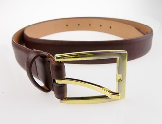 Men's Brown Leather Belts - £1.50