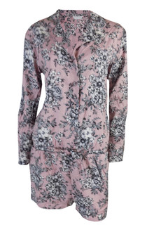 Ex M-S  Ladies Pink Floral  Pyjama Playsuit  - £4.00