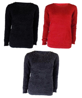 Ex Major High Street Ladies Fluffy Jumpers - £3.95