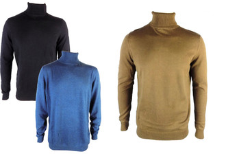 Ex Major High Street Mens Polo Neck Jumper  - £3.95