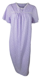 Ex Major High Street Ladies Short Sleeve  Purple Nightdress - £3.75