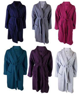 Ex M-S Ladies Embossed Dressing Gown - £7.50