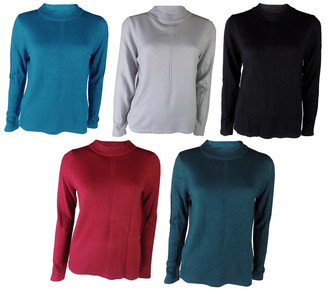 Ex M-S Ladies Cashmilon Round Neck Jumper  - £4.50