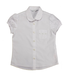 Ex M-S Girls White School Blouse - £1.75