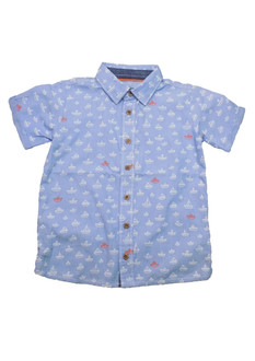 Boys Boat Motif Shirt - £2.50