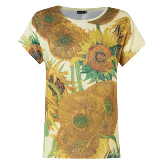 Ladies Van Gogh Sunflowers T Shirt - £2.50