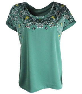 Ex M-S Ladies Satin Printed Top - £3.50