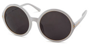White Round Sunglasses