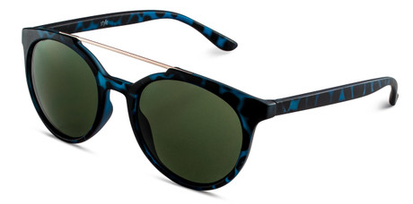 Blue Havana Aviator Sunglasses