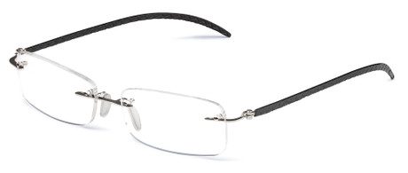 Rimless Glasses Lightweight : Rimless Lightweight Reading Glasses Leather Temples - Styllize