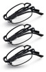 Folding reading glasses