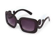 Shiny Black Swirl Sunglasses