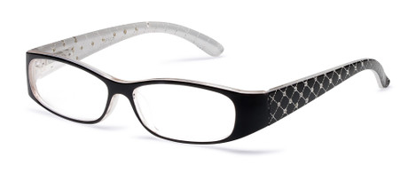 Black Quilted Reading Glasses
