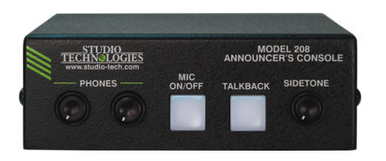 Model 208 Announcer's Console - Front